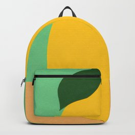 Lemon With Two Leaves Backpack