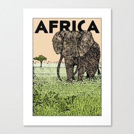 AFRICA (African Elephant) Canvas Print