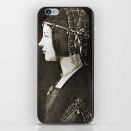 Bianca Sforza by Leonardo da Vinci iPhone Skin