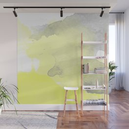 Yellow and Gray Ombre Watercolor  Wall Mural
