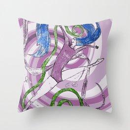 Ballet love Throw Pillow
