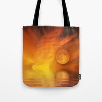 skyfall Tote Bags featuring skyfall by LuMixaArt