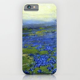 Meadow of Wild Blue Irises, Springtime by Maria Oakey Dewing iPhone Case