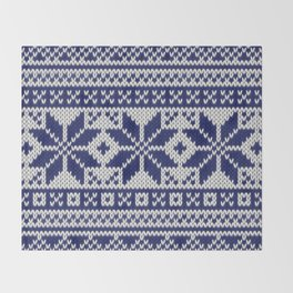 Winter knitted pattern 5 Throw Blanket