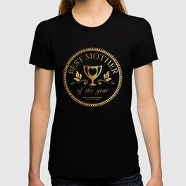 Mother's day golden trophy T-shirt