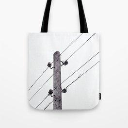 Old Utility pole Tote Bag
