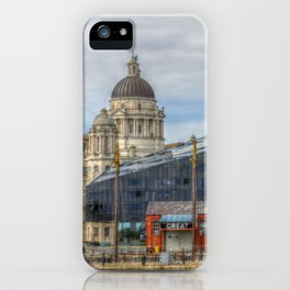 Liverpool old and new iPhone Case