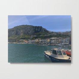 capri italy boat Metal Print