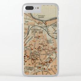 Vintage Tallinn Estonia Map (1914) Clear iPhone Case