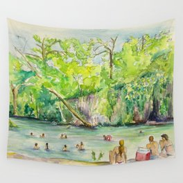 Krause Springs - historic Texas natural springs swimming hole Wall Tapestry