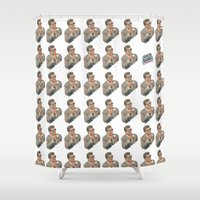 3d Shower Curtains featuring 3D by Greta Bungle