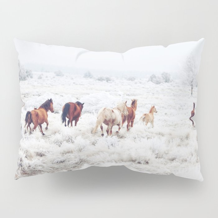 Winter Horses Pillow Sham
