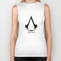 assassins creed Biker Tanks featuring Creed Assassins Brotherhood by aleha