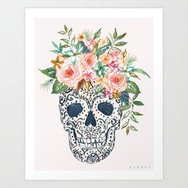 HONORA PRETTY SKULL Art Print