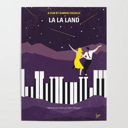 No756 My La La Land minimal movie poster Poster