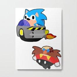 Sonic stole Eggmans property! Metal Print