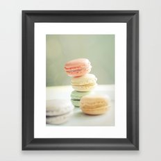 Pretty Macarons Framed Art Print