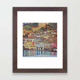 "Gustav Klimt ""Malcesine on Lake Garda"" Framed Art Print"