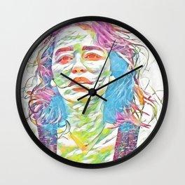 Emilia Clark (Creative Illustration Art) Wall Clock