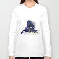 running Long Sleeve T-shirts featuring Horse running  by Maria Karps