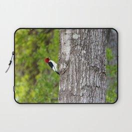 Red Head Bird Laptop Sleeve