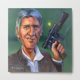 Harrison Ford: Han Solo and his Blaster Metal Print