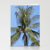 indonesia Stationery Cards featuring Palm (Bali, Indonesia) by Christian Haberäcker - acryl abstract