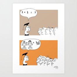 How to teach kids  Art Print