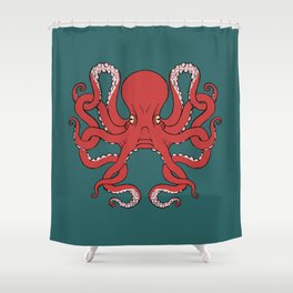 Octopus Knot in Deep Sea Shower Curtain