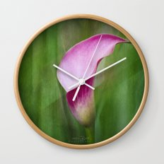 Calla Lily Flow Wall Clock