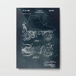 1956 - Power roller skates patent art Metal Print