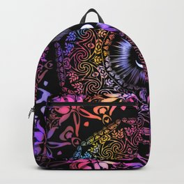Mandala Radiant Om Spiritual Zen Bohemian Hippie Yoga Mantra Meditation Backpack