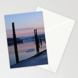 Sunset on the ice Stationery Cards