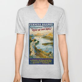 Furness Railway and Lady of the Lake Unisex V-Neck