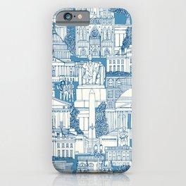 Washington DC toile blue iPhone Case