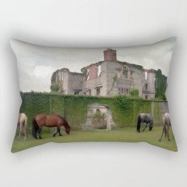 Cumberland Island - Feral Horses Rectangular Pillow