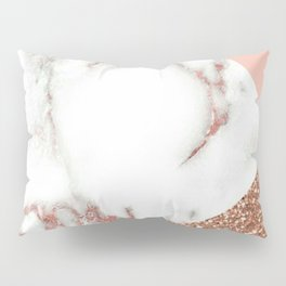 Marble - pink and gold Pillow Sham