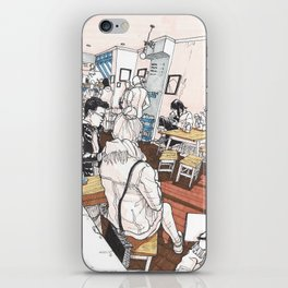 Little Rogue cafe iPhone Skin