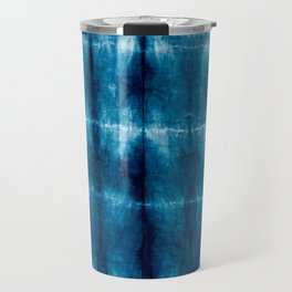 indigo shibori Travel Mug