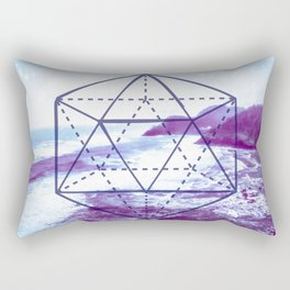 The Elements Geometric Nature Element of Water Rectangular Pillow