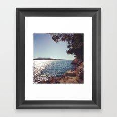 Beach moments Framed Art Print