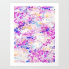 Canopy Magenta Art Print