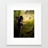 tinker bell Framed Art Prints featuring Tinker Bell by Best Light Images