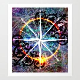 Fairytale Compass Rose Art Print