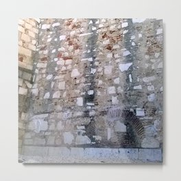 Lisbon archaeological Museum of Carmo_wall pattern Metal Print
