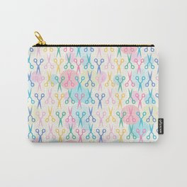 Hair Scissors Pastel Pattern Carry-All Pouch