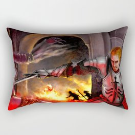 Dragon Age - Cullen - Tower in Flames Rectangular Pillow