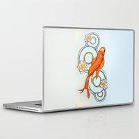 koi fish Laptop & iPad Skins featuring Koi Fish by Eleni Kakoullis