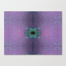 Silicon-based life form - E5 purple Canvas Print