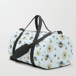 Bumble Bees and Flowers Duffle Bag